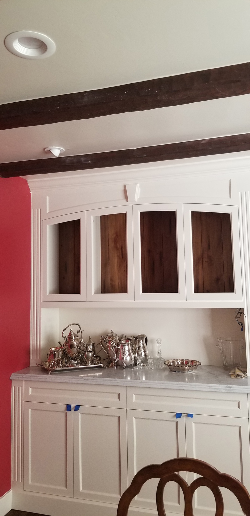 Before and after cabinet glass